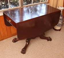 Mahogany Claw Footed Pembroke Table