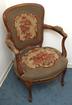Louis XV Style Carved Armchair
