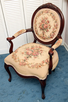 Victorian Style Walnut Gentlemen's Chair