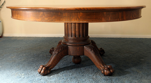 Super Round Oak Claw Foot  Dining Table