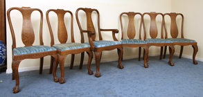 Oak Claw & Ball Foot Dinning Chairs