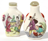 Two Chinese Porelain Snuff Bottles