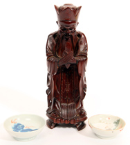 Chinese Wood Carving & Porcelain