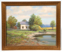 WILLIAM V. GEORG (MILWAUKEE, WISCONSIN) OIL PAINTING
