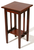ARTS & CRAFTS MAHOGANY STAND IN STYLE OF STICKLEY BROTHERS