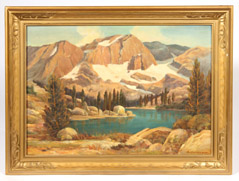 A. GESSNER WESTERN LANDSCAPE OIL PAINTING