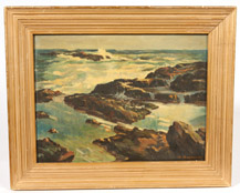A. GESSNER SEASCAPE OIL PAINTING