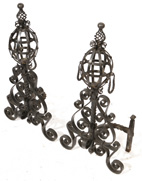 ARTS AND CRAFTS  IRON ANDIRONS