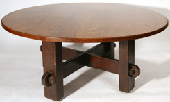 MASSIVE ROUND TABLE ATTRIBUTED TO L. & J.G. STICKLEY