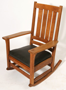 L. & J.G. STICKLEY TALL BACK ARM ROCKER