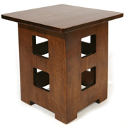 CONTEMPORARY LIMBERT CUT-OUT TABOURET