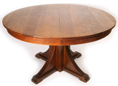 STICKLEY BROTHERS ROUND EXTENSION DINING TABLE