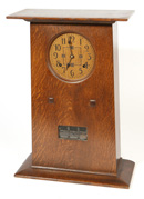 CONTEMPORARY L. &  J.G. STICKLEY MANTLE CLOCK