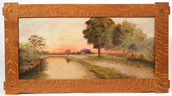 MONOGRAMMED EARLYT 20TH CENTURY OIL PAINTING