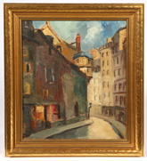 SIGNED  STERRIT MID-20TH CENTURY OIL PAINTING