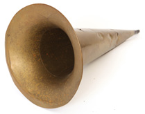 Brass Horn for Cylinder Phonograph
