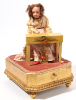 French Musical Automaton Jewelry Case