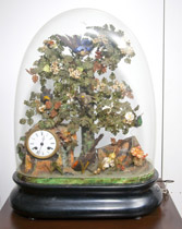 French Domed Musical Automaton Clock