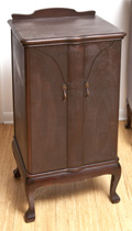 Unusual Mahogany Music Cabinet