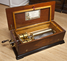 "J. Manger 13"" Cylinder Music Box"