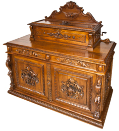 Outstanding Swiss Cylinder Music Box and Cabinet