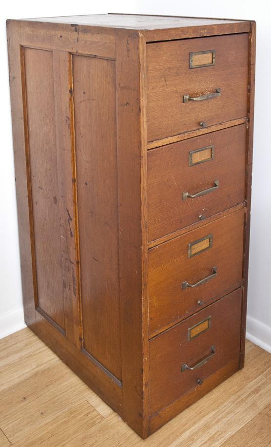 70, Macy Oak 4 Drawer File Cabinet