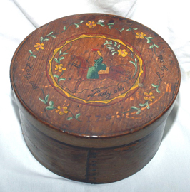 EARLY DECORATED BOX DATED 1790