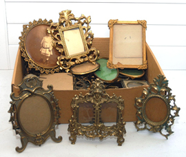 SEVERAL BRASS FRAMES