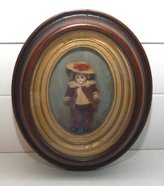 BISQUE DOLL IN FRAME
