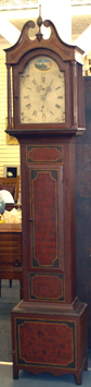 Early grandfather clock with paint