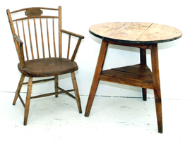 Early Cricket Table & Chair
