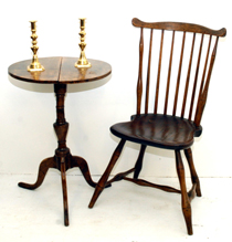 Early Candle Stand & Windsor Chair