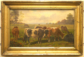 Oil Painting of Cattle