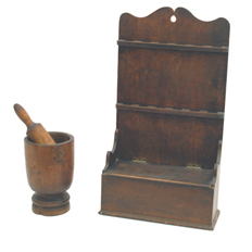 Early Hanging Box With Spoon Rack