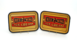 Red Wing Ice Cream Trays