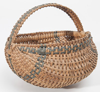 Buttocks Basket With Green Weaving