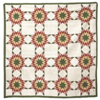 Early  8-Pointed Star Pieced Quilt