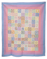 Pieced Postage Stamp Quilt