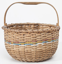Split Ash Basket w/Notched Handle