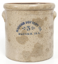Macomb Pottery Co. Decorated Stoneware Jar