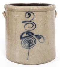 Decorated Stoneware Crock