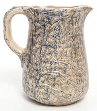 Sponge Decorated Stoneware Pitcher