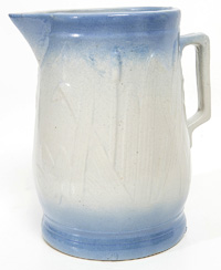 Scarce Large Size Blue & White Stoneware Pitcher