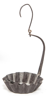 Wrought Iron Betty Lamp