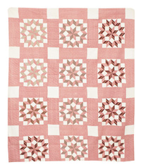 Carpenters Wheel Pieced Quilt