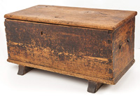 Early Footed Hermann Mo. Blanket Chest