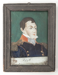 Reverse Painting of Lafayette