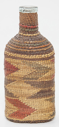 Northern California Basketry Covered Flask