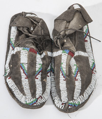 Cheyenne Beaded Child's Moccasins