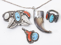 Silver & Turquoise Navajo Jewelry